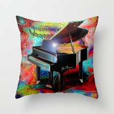 Psychedelic Baby Grand Throw Pillow