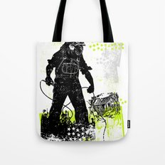 Rooster Man Microphone Tote Bag