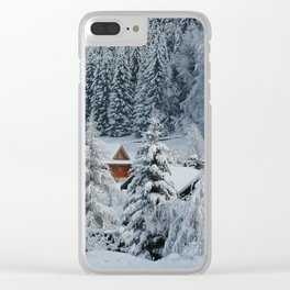 Winter in Alpine Village-1 Clear iPhone Case