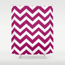 Jazzberry jam - violet color - Zigzag Chevron Pattern Shower Curtain