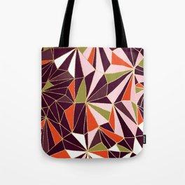New Art Deco Geometric Pattern - Burgundi and Pink #deco #buyart Tote Bag