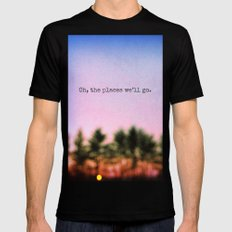 Oh, the Places We'll Go MEDIUM Black Mens Fitted Tee