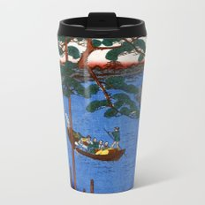 Utagawa Hiroshige Five Pines Onagi River Metal Travel Mug
