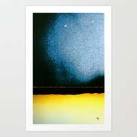 moon phase Art Prints featuring New Moon - Phase I by Marina Kanavaki