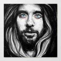 jared leto Canvas Prints featuring Jared Leto by KlarEm