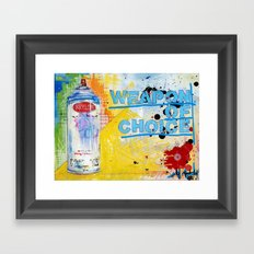 Weapon of Choice Framed Art Print
