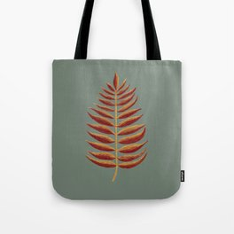 Gold and Copper Palm Leaf Tote Bag