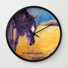 We graze   On broute Wall Clock