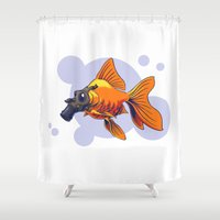 breathe Shower Curtains featuring Breathe by rob art | simple