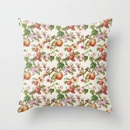 botanical fruits Throw Pillow