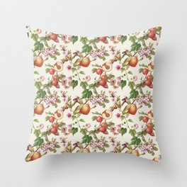 botanical fruits Throw Pillow