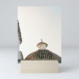 "Travel photography ""Ibiza Sunset rooftop"" | Modern wall art pastel poster spain Mini Art Print"