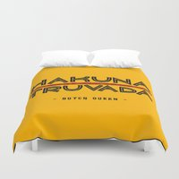 hakuna Duvet Covers featuring BQ - Hakuna Truvada by lessdanthree