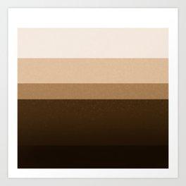 Coffee Layers Graphic Tones Coffee Lovers Art Print