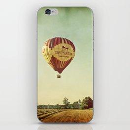 Hot Air Balloon Over Farmland iPhone Skin