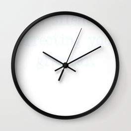 I'm Silently Correcting Your Grammar. Wall Clock