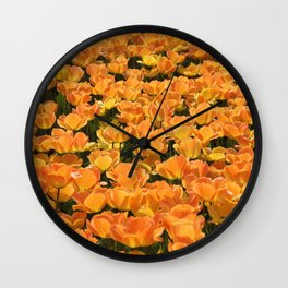 Holland- Tulip- Fields -Flowers Wall Clock