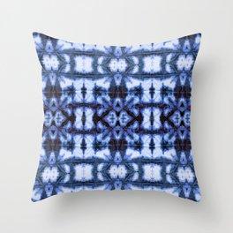 Blue Oxford Shibori Throw Pillow