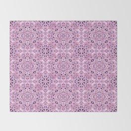 Pink kaleidoscope wallpaper Throw Blanket