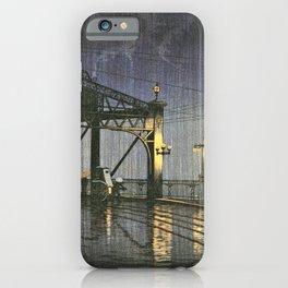 Kawase Hasui - Twenty Views Of Tokyo, Shinohashi Bridge - Digital Remastered Edition iPhone Case