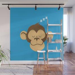 Sleepy Monkey Wall Mural