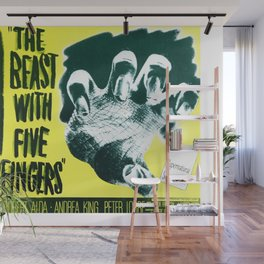 The Beast with five fingers, vintage horror movie poster Wall Mural