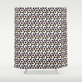 Pixel Eyeballs Shower Curtain