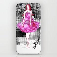My rose dress fashion illustration concept. iPhone & iPod Skin