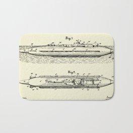 Submarine Torpedo Boat 01-1910 Bath Mat