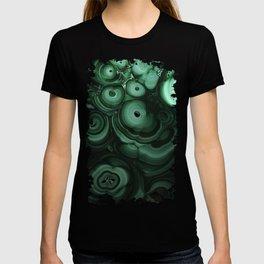 Curls and patterns of malachite T-shirt