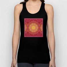 Love Will Find A Way -- Kaleidescope Mandala in the colors of Love Unisex Tank Top