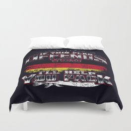 flag offend germany Duvet Cover