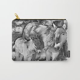 AnimalArtBW_Horse_20170801_by_JAMColorsSpecial Carry-All Pouch