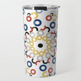Mondriaan Mandala Travel Mug