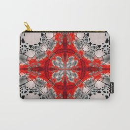 Red Warped Mandala Quadrants Carry-All Pouch