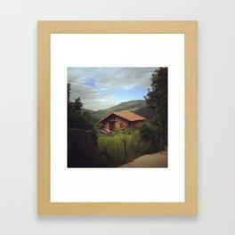 On the Camino Framed Art Print