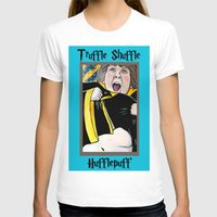 hufflepuff T-shirts featuring Truffle Shuffle Hufflepuff by Portraits on the Periphery