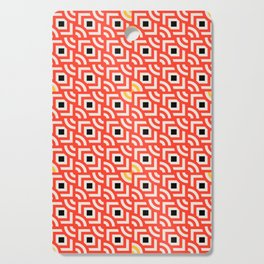 Round Pegs Square Pegs Red-Orange Cutting Board