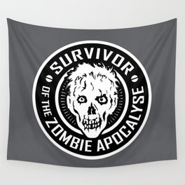 Survivor of the Zombie Apocalypse Wall Tapestry