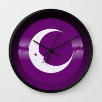 luna Wall Clocks featuring Luna by tuditees