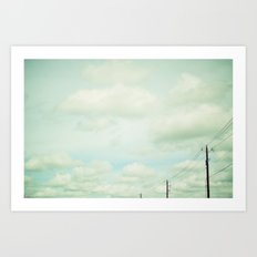 clouds and lines Art Print