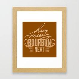 Hair Messy Bourbon Neat Framed Art Print