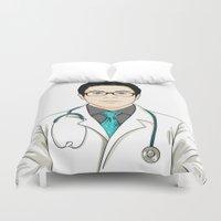 doctor Duvet Covers featuring Doctor by BusOne - Aldo Campilongo