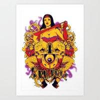 rockabilly Art Prints featuring Sinful rockabilly  by Tshirt-Factory