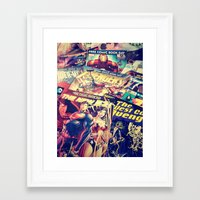 comics Framed Art Prints featuring Comics by Miss-Lys
