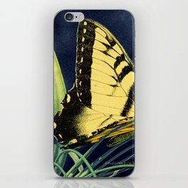 Yellow Tiger Swallowtail Butterfly A125 iPhone Skin