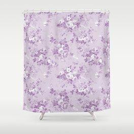 Elegant modern lavender lilac white floral Shower Curtain