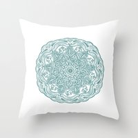 ohm Throw Pillows featuring ohm pattern. by CGA InStudio