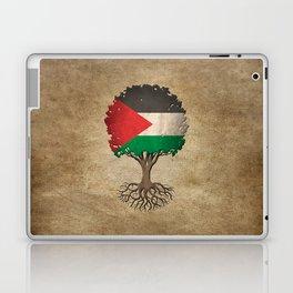 Vintage Tree of Life with Flag of Palestine Laptop & iPad Skin