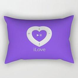 iLove Purple Rectangular Pillow